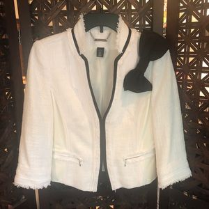 White black market jacket